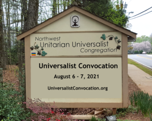 Northwest Street Sign Announcing Convocation
